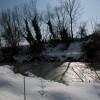 Fiume Musone sotto la neve
